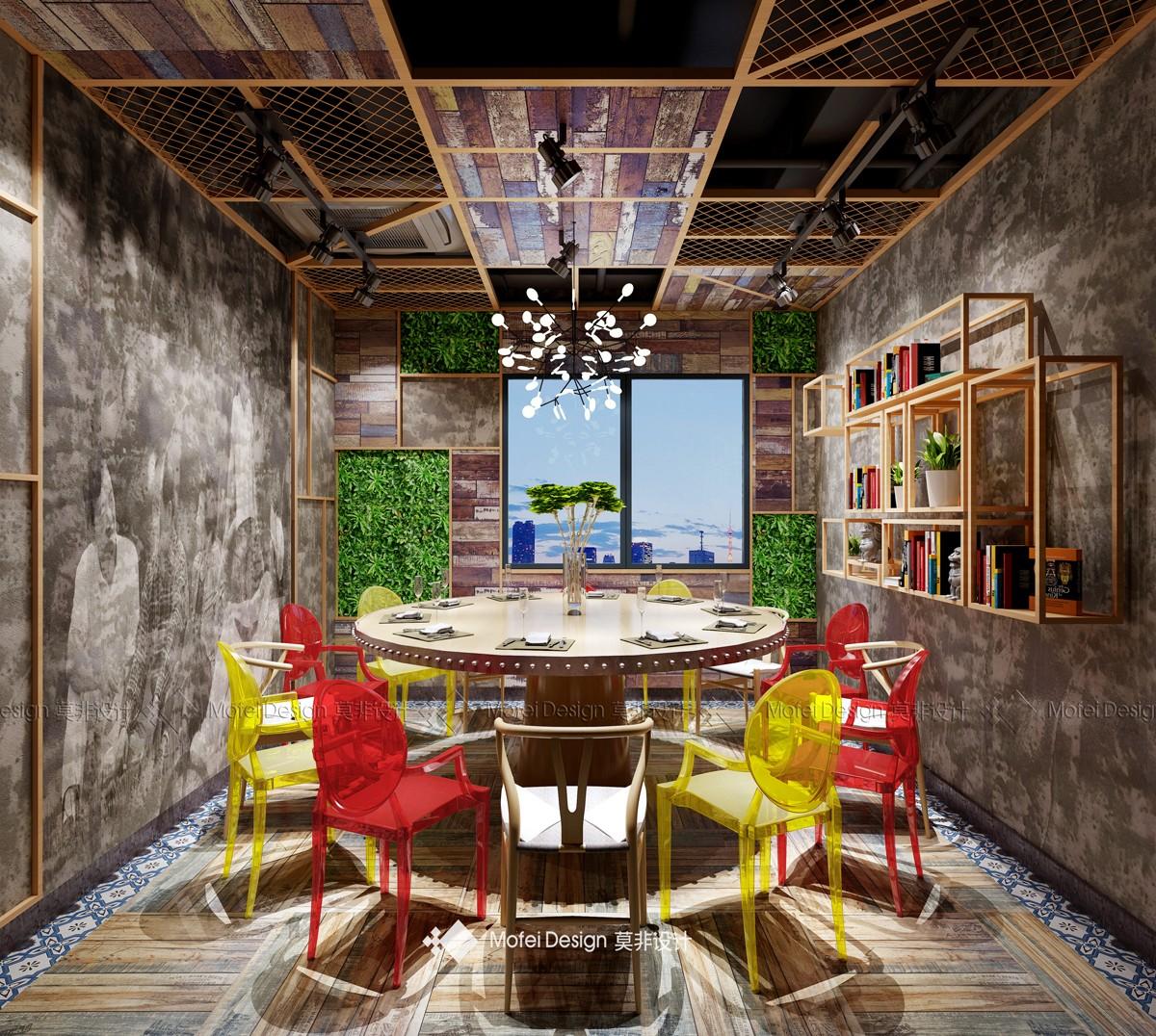 长沙有鱼友肉餐厅-长沙餐饮室内设计